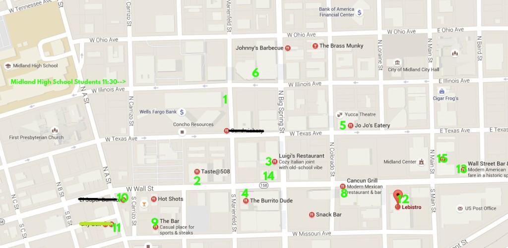 downtown Midland Map